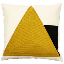 Triangle Rashi Cotton-Blend Cushion