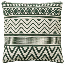 Green Aztec Print Tara Cotton Cushion