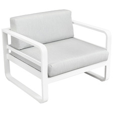 White Elara Fabric Outdoor Armchair