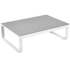 White Elara Aluminium Outdoor Coffee Table
