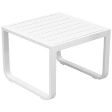 White Elara Aluminium Outdoor Side Table