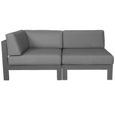 2 Seater Anthracite Trosa Fabric Outdoor Sectional Corner Sofa