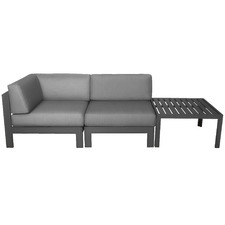 2 Seater Anthracite Trosa Fabric Outdoor Sectional Sofa Set