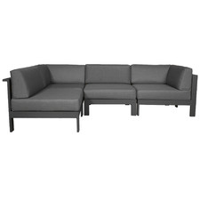 4 Seater Anthracite Trosa Fabric Outdoor Sectional Sofa
