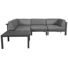 4 Seater Anthracite Trosa Fabric Outdoor Sectional Sofa Set