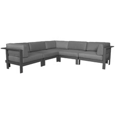 5 Seater Anthracite Trosa Fabric Outdoor Sectional Sofa