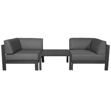 Anthracite Trosa Fabric Outdoor Two Person Lounge Set