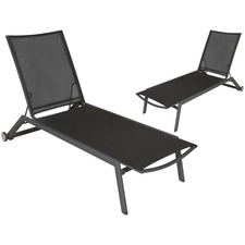 Anthracite Trosa Aluminium Sun Lounges (Set of 2)