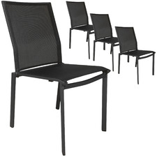 Anthracite Trosa Aluminium Outdoor Dining Chairs (Set of 4)