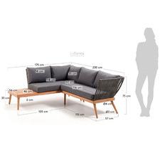 Grey Agnetha Outdoor Corner Sofa
