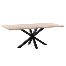 Natural & Black Cacey Dining Table