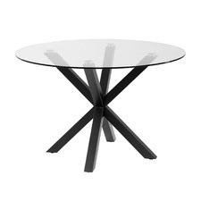 Cillin Glass-Top Dining Table