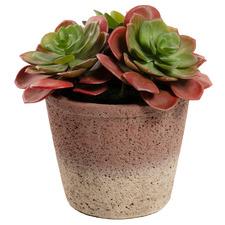16cm Odina Potted Faux Stone Lotus Succulent