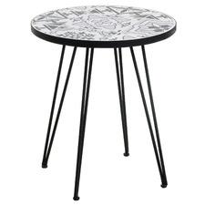 Black & White Vigo Side Table
