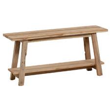 Natural Jafar Recycled Teak Wood Bench