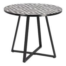 Black & White Marius Ceramic Outdoor Dining Table