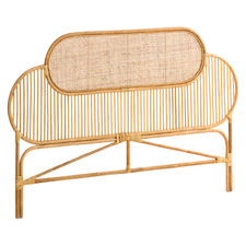 Natural Salvio Bamboo & Rattan Queen Bedhead