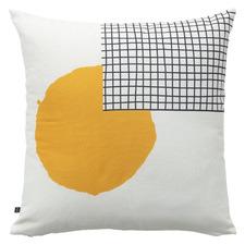 Yellow & White Armida Cotton Cushion