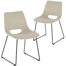 Araceli Velveteen Dining Chairs (Set of 2)