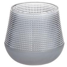 Grey Nisha Frosted Glass Vase