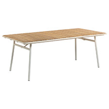Wallace Acacia Wood & Steel Outdoor Dining Table
