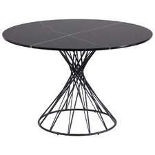 Black Caio Marble-Top Dining Table