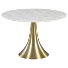White Quince Marble-Top Dining Table