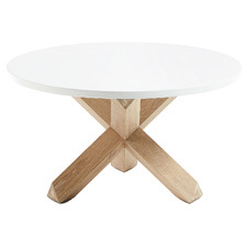 White & Natural Nafisa Coffee Table
