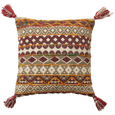 Darrien Tasselled Cotton-Blend Cushion