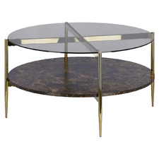 Camilla Glass-Top Coffee Table
