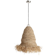 Natural Aliah Raffia Pendant Light