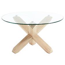 Nafisa Glass-Top Coffee Table