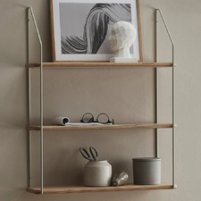 Light Timber Sylvaine 3 Tier Wall Shelf