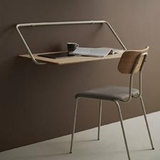 Light Timber & White Sylvaine Wall Desk