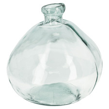 33cm Clear Cherish Recycled Glass Vase