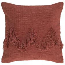 Chevron Letitia Fringed Cotton Cushion