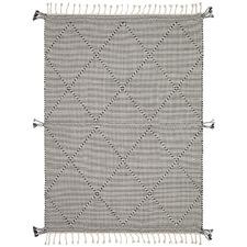 Black Sloan Hand-Woven Cotton Rug