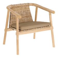 Ammar Mindi Wood & Rattan Armchair