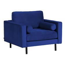 Blue Morin Velvet Armchair
