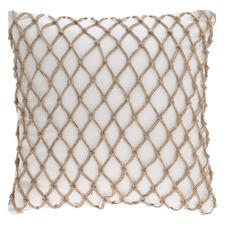White Hutton Cotton Cushion Cover