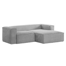Grey Alishia 2 Seater Sofa with Right Chaise