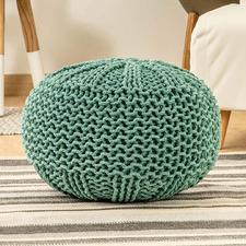 Mariella Knitted Cotton Pouffe