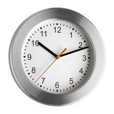 Brushed Aluminium Wall Clock