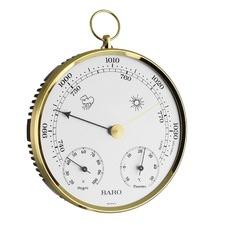 13.6cm Brass Baro Thermo Hygrometer