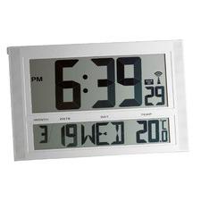 Silver Rectangular Alarm Clock