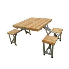 Foldable Fir Picnic Table & Seats