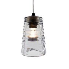 Pressed Glass Tube Replica Pendant Light