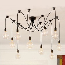 Replica 8 Head Thomas Edison Bulb Chandelier Pendant
