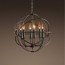 Foucault's Orb Iron Chandelier Rustic Iron Replica
