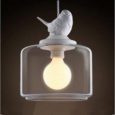 Bird Glass Pendant